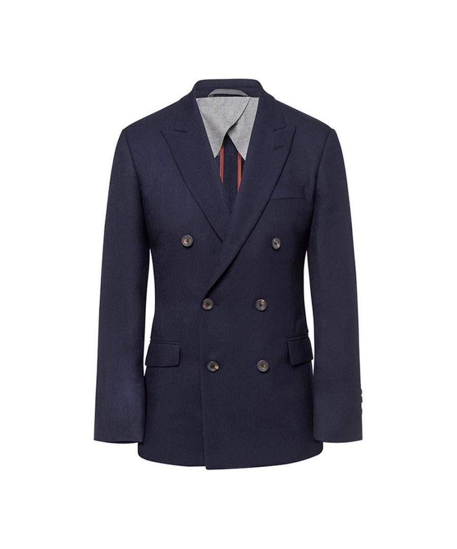 Image for Men's Hackett, Mayfair Check Knit Jacket in Blue