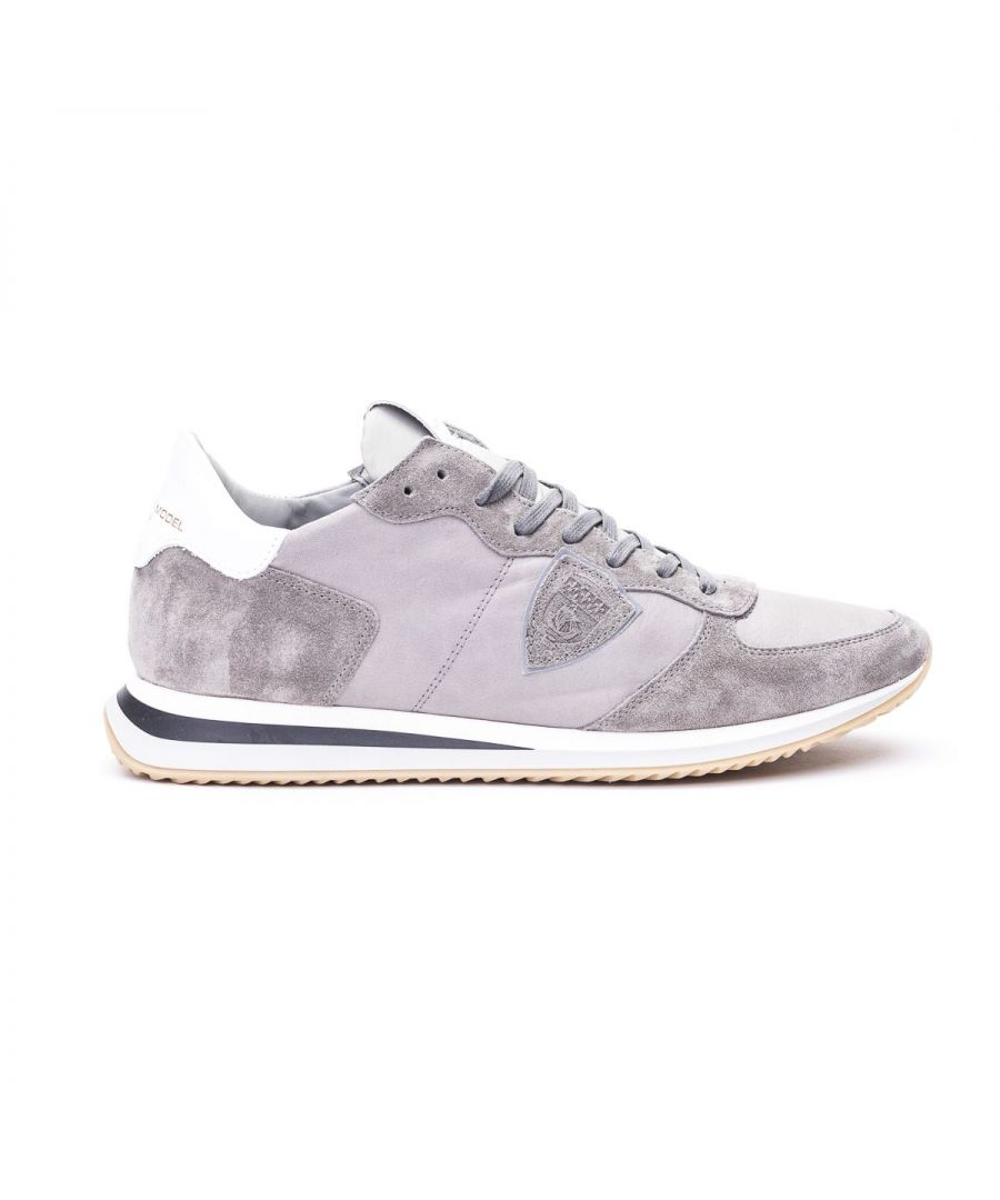 Image for PHILIPPE MODEL MEN'S TZLUWW19 GREY SUEDE SNEAKERS