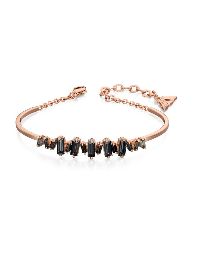 Image for Fiorelli Fashion Rose Gold Plated Baguette Black Crystal Structured Bracelet