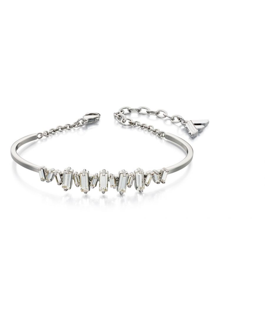 Image for Fiorelli Fashion Imitation Rhodium Plated Baguette Clear Crystal Structured Bracelet