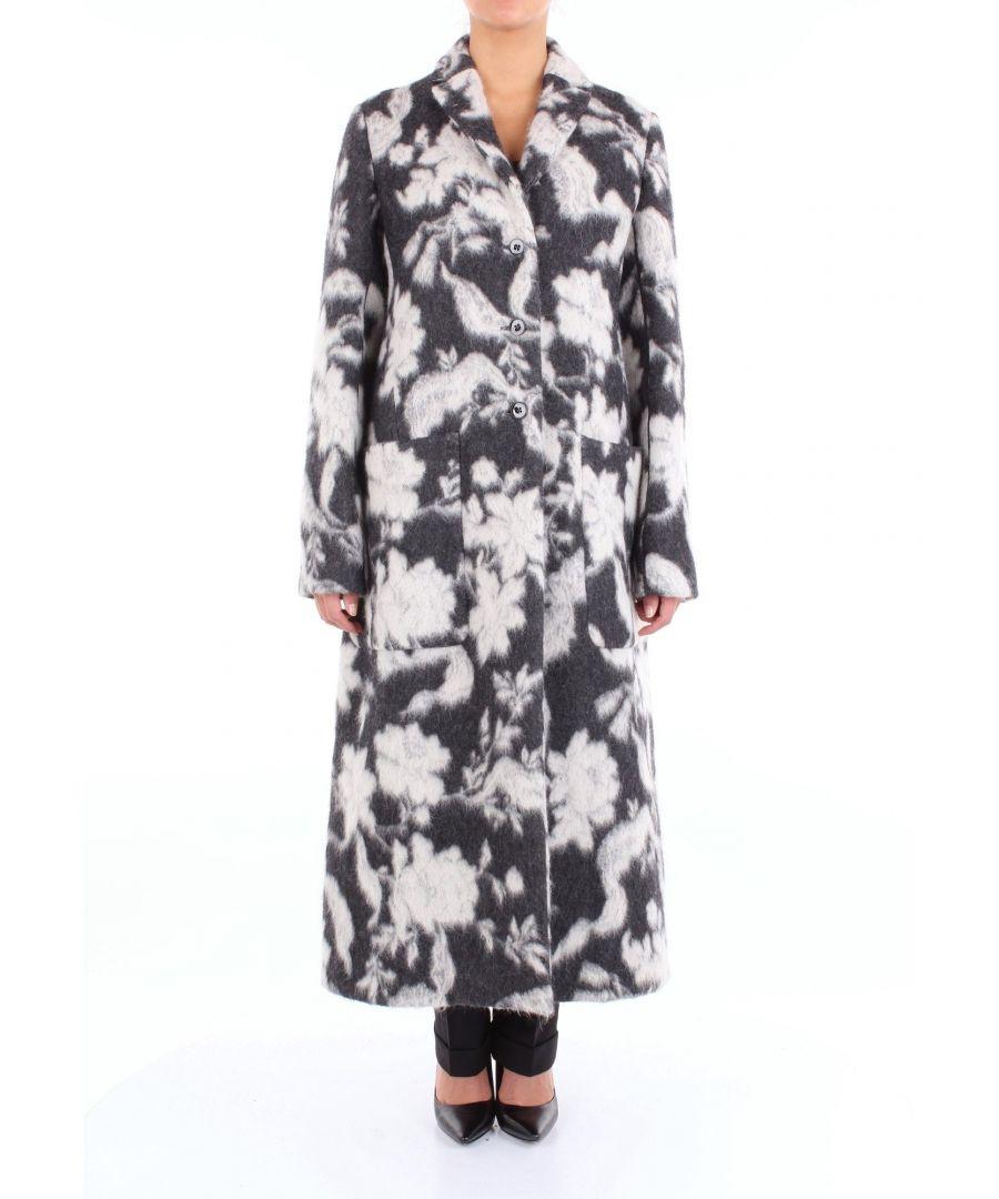 Image for JIL SANDER WOMEN'S JSWN127505JN210560BLACKWH BLACK WOOL COAT