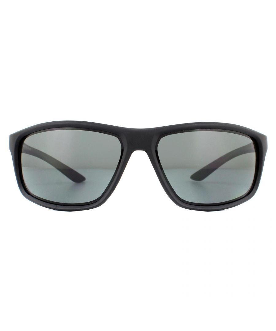 Image for Nike Sunglasses Adrenaline P EV1114 001 Matte Black Grey Blue Mirror Polarized