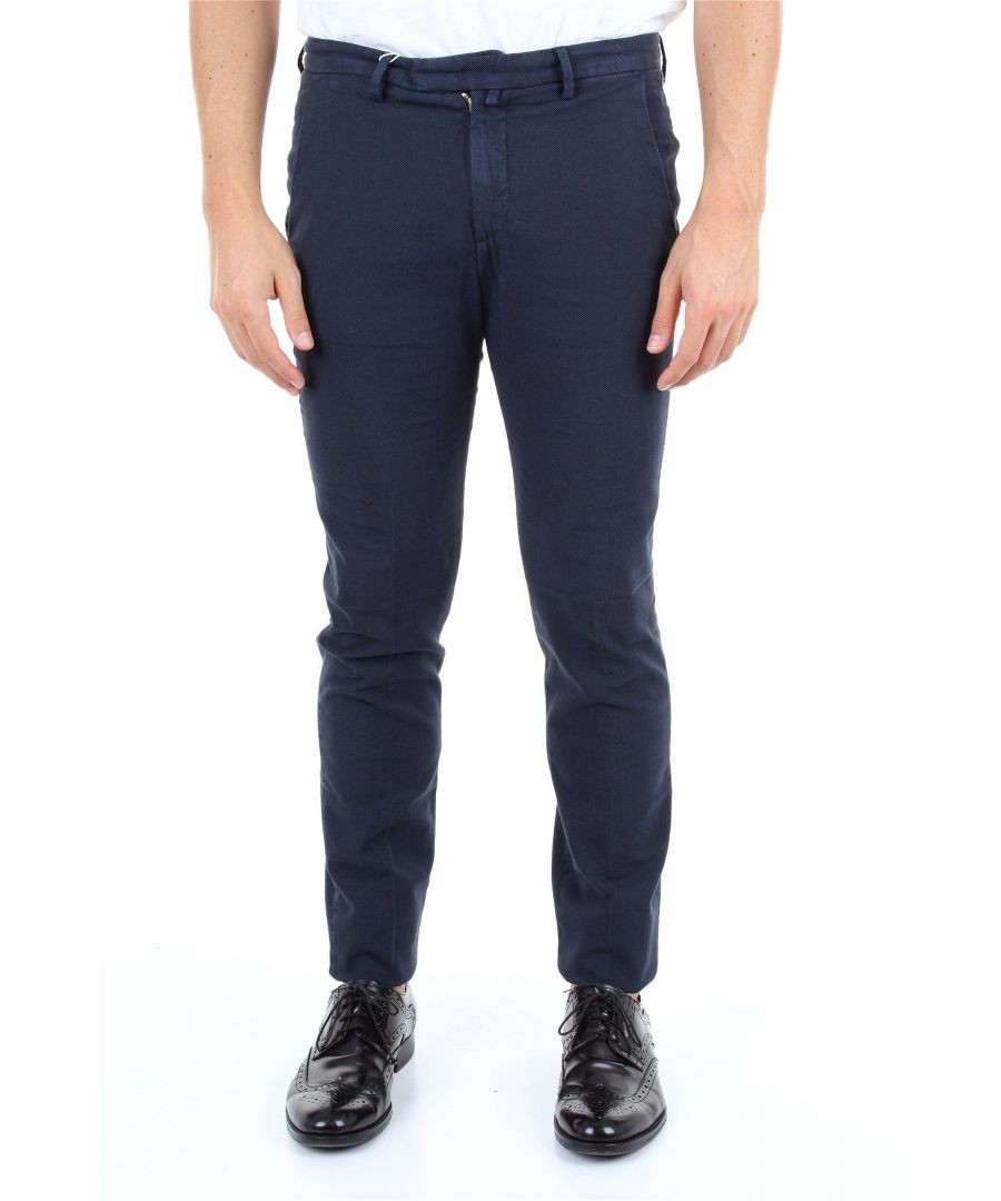 Image for BRIGLIA 1949 MEN'S BG033921BLU BLUE COTTON PANTS