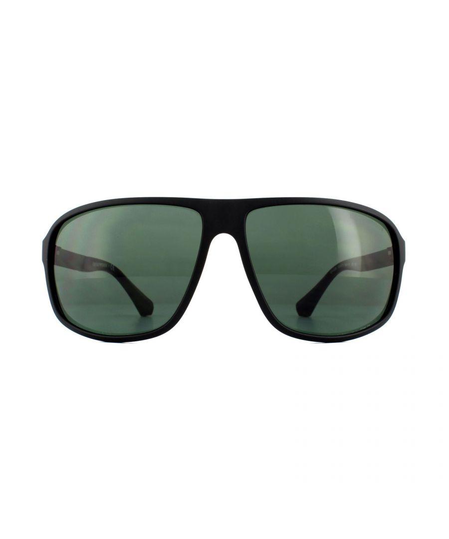 Image for Emporio Armani Sunglasses 4029 504271 Matte Black Green