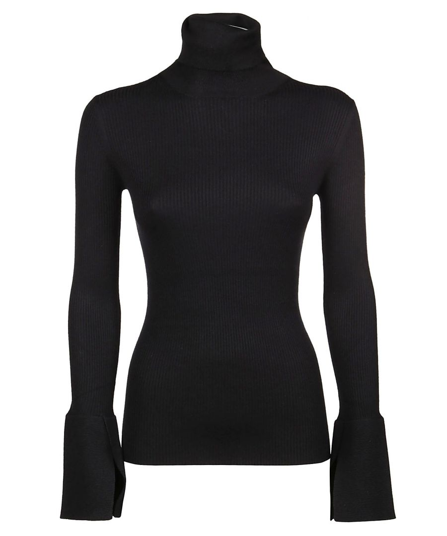 Image for PROENZA SCHOULER WOMEN'S R193727900200 BLACK SILK SWEATER