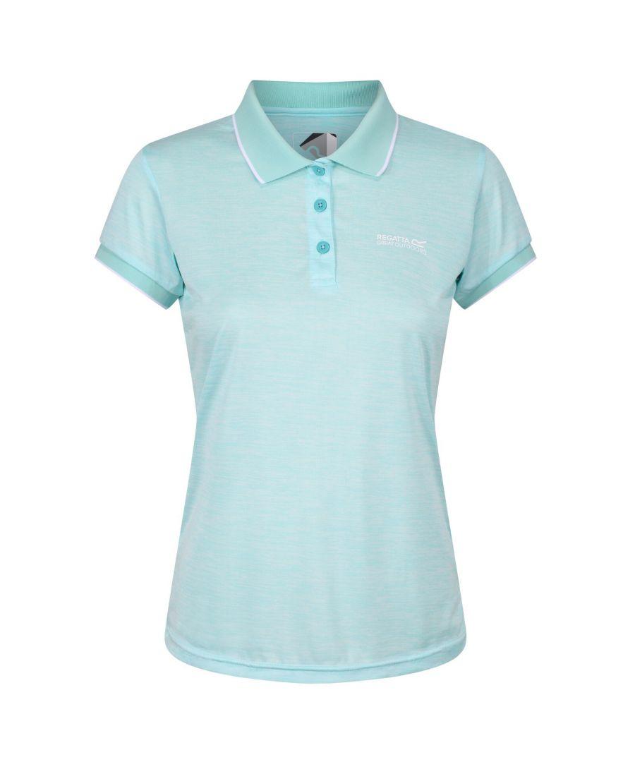 Image for Regatta Womens/Ladies Remex II Polo Neck T-Shirt (Cool Aqua)