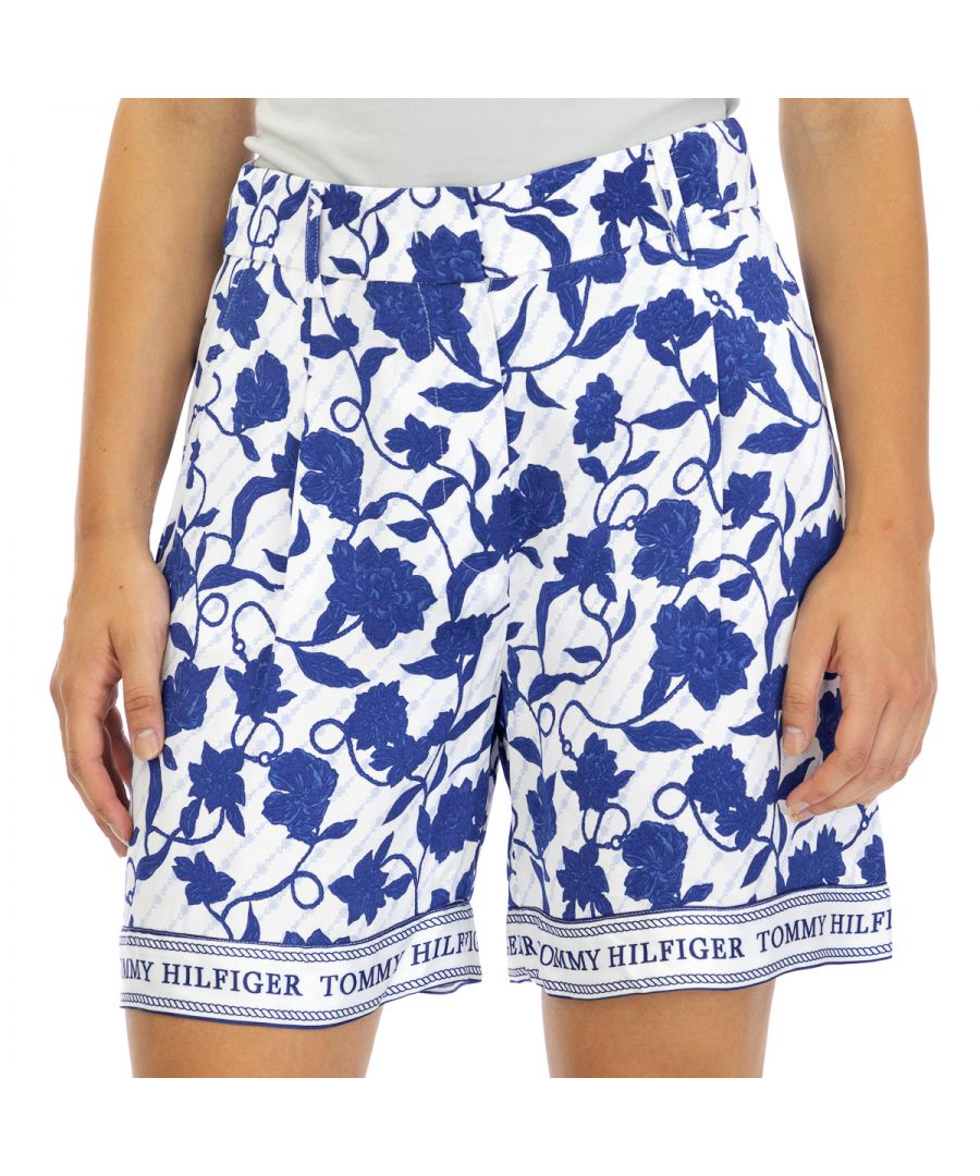 Image for Tommy Hilfiger Women's Shorts Peonie Thigh Length Multicolor