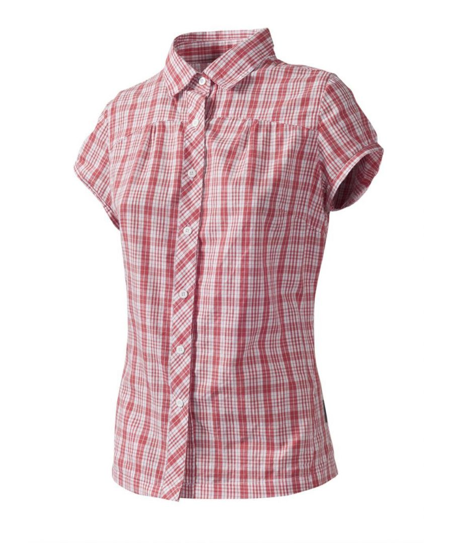 Image for Trespass BRAE Blouses-CORAL BLUSH CHECK