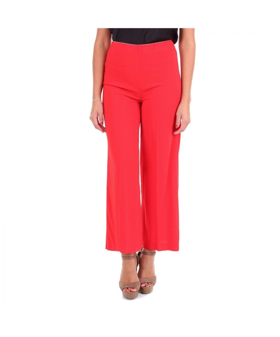 Image for JUCCA WOMEN'S J29141041575 RED VISCOSE PANTS