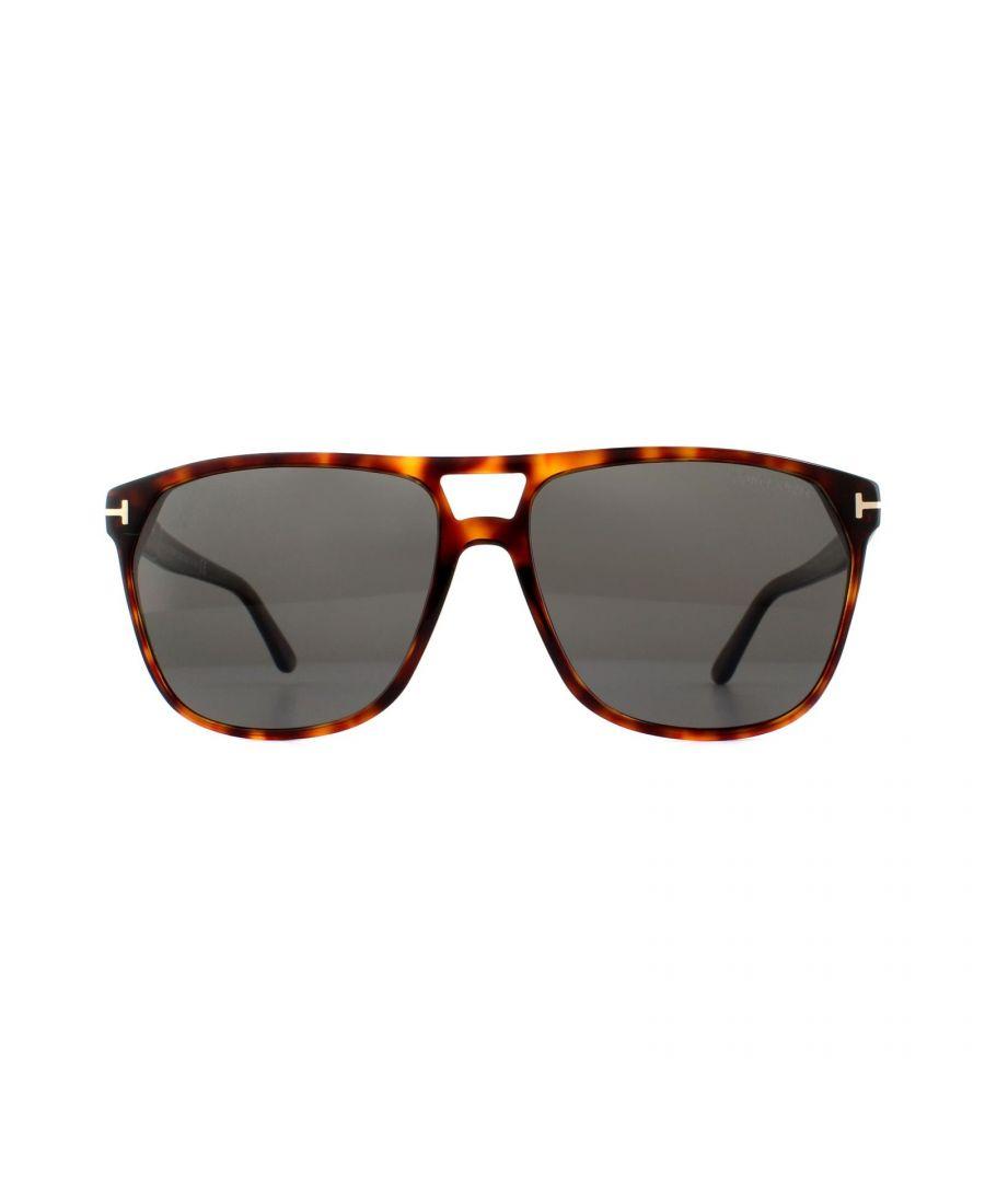 Image for Tom Ford Sunglasses Shelton 0679 54D Red Havana Grey Polarized