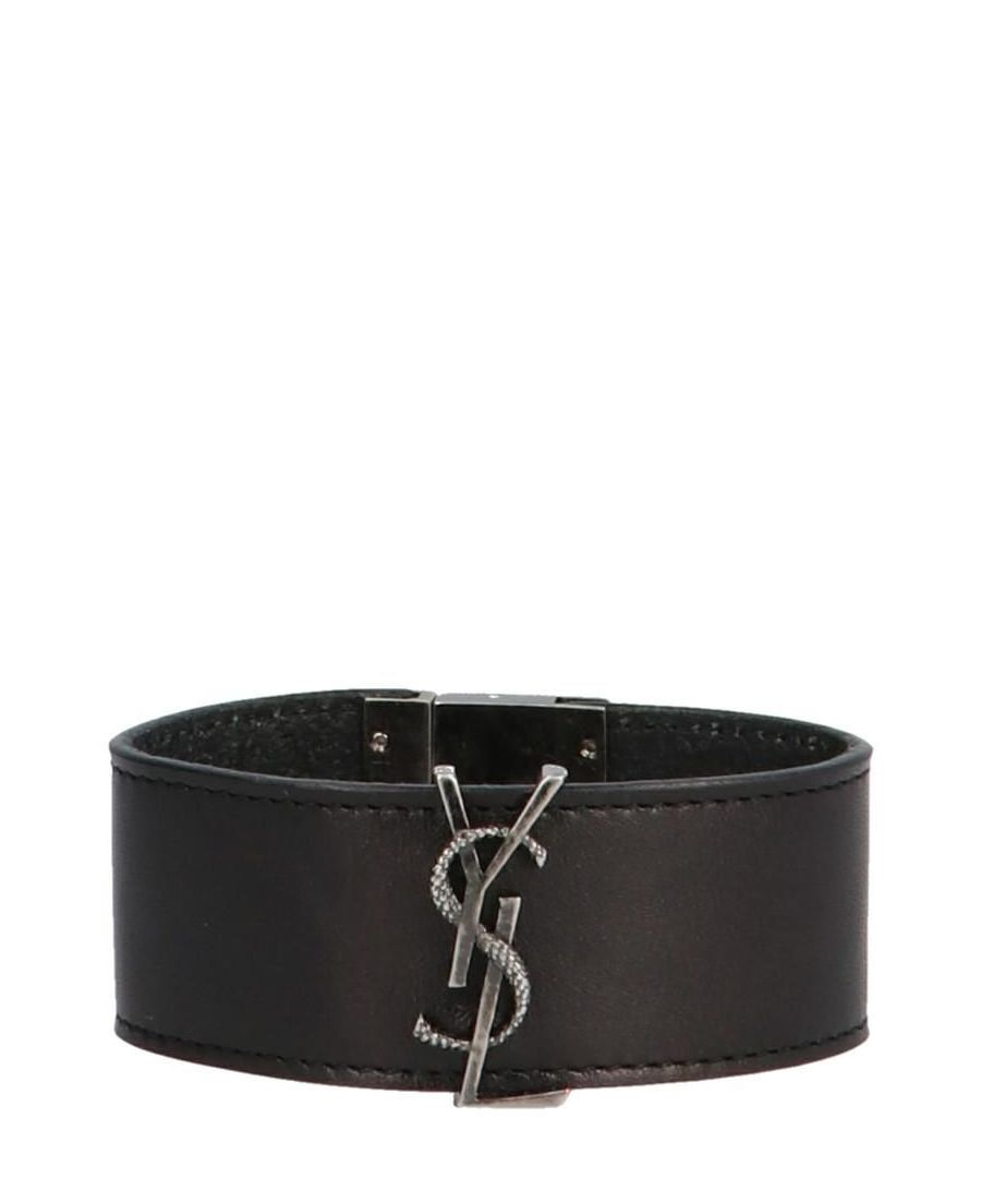 Image for SAINT LAURENT WOMEN'S 5868000IH0D1000 BLACK LEATHER BRACELET