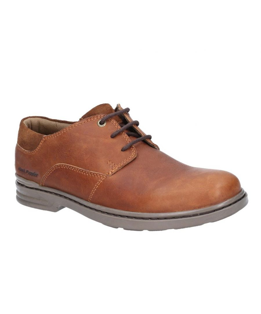 Image for Hush Puppies Mens Max Hanston Lace Up Dress Shoe (Brown)
