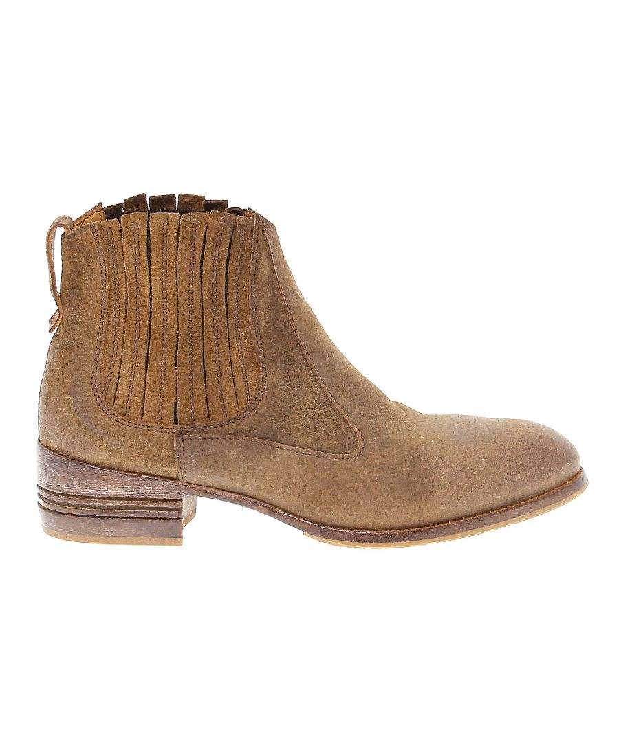 Image for MOMA WOMEN'S 32802BROWN BROWN SUEDE ANKLE BOOTS