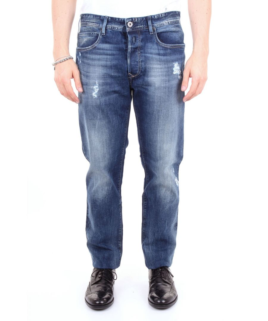 Image for REPLAY MEN'S MA90193B834JEANSSCURO BLUE COTTON JEANS