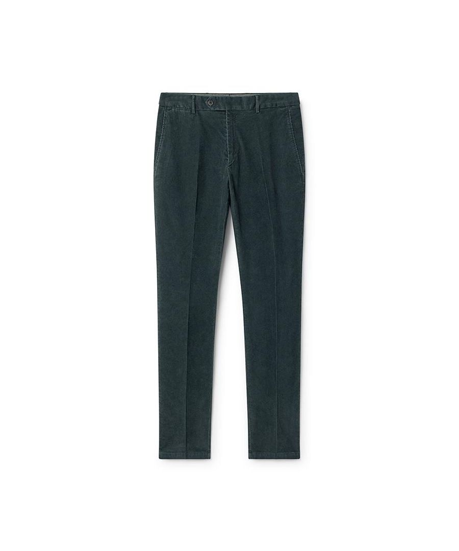 Image for Men's Hackett Corduroy Chinos in Petrol