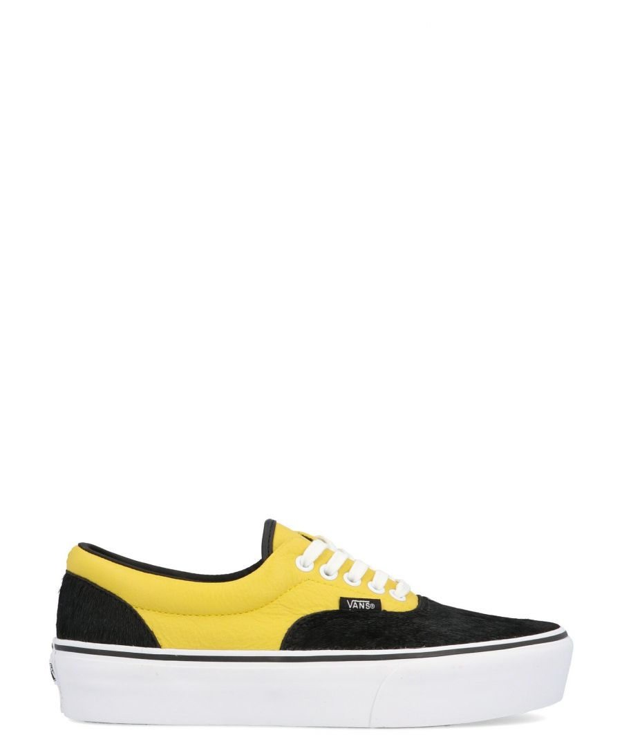 Image for VANS WOMEN'S VN0A3WLUVYE MULTICOLOR LEATHER SNEAKERS