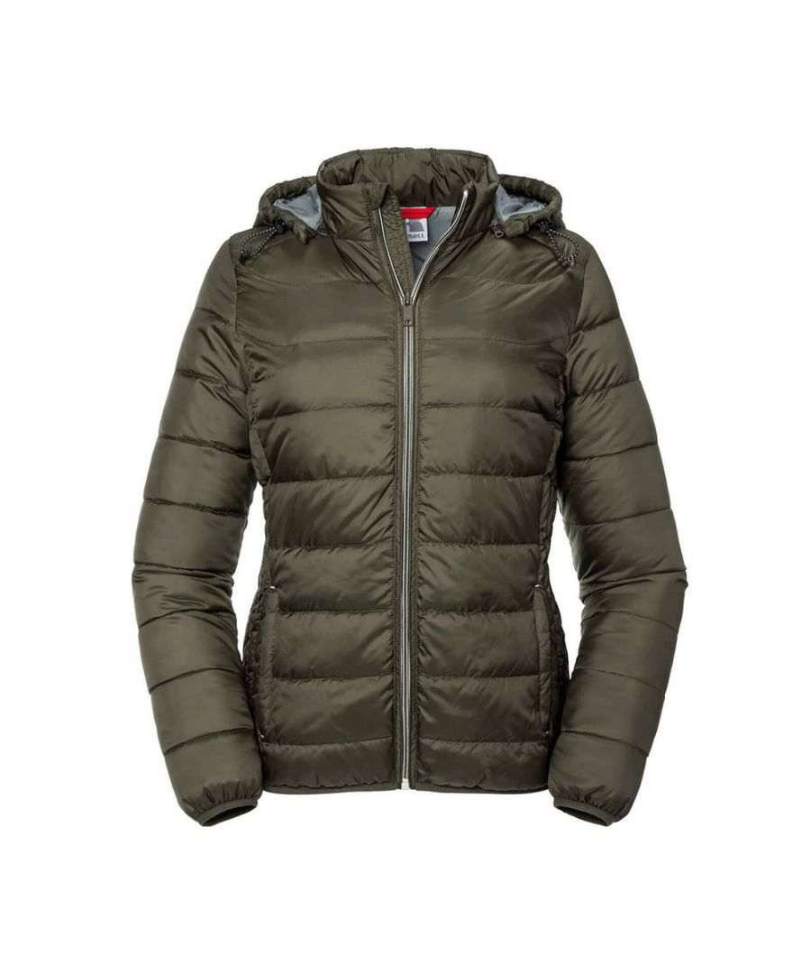 Image for Russell Women's Ladies Hooded Nano Jacket (Dark Olive)