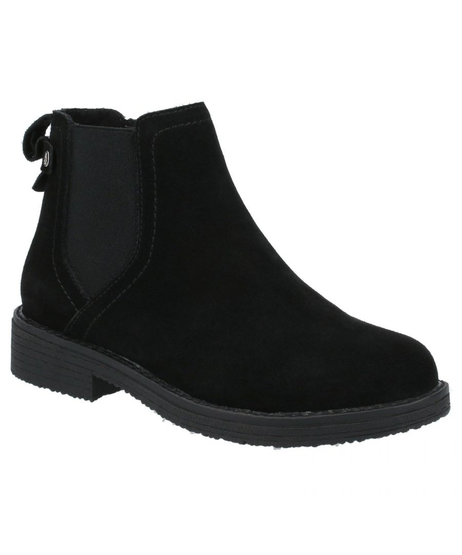 Image for Hush Puppies Women's Maddy Suede Ankle Boots (Black)