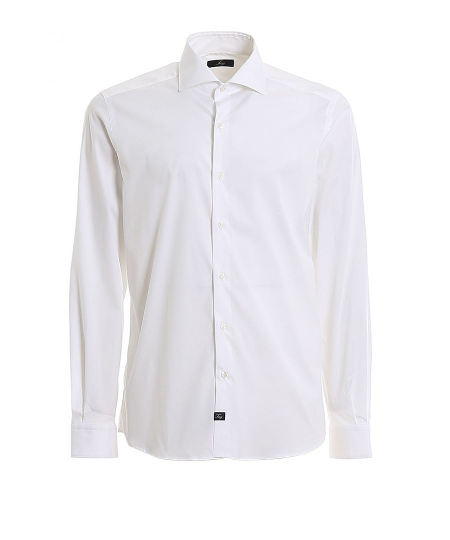 Image for FAY MEN'S NCMA140259SORMB001 WHITE COTTON SHIRT