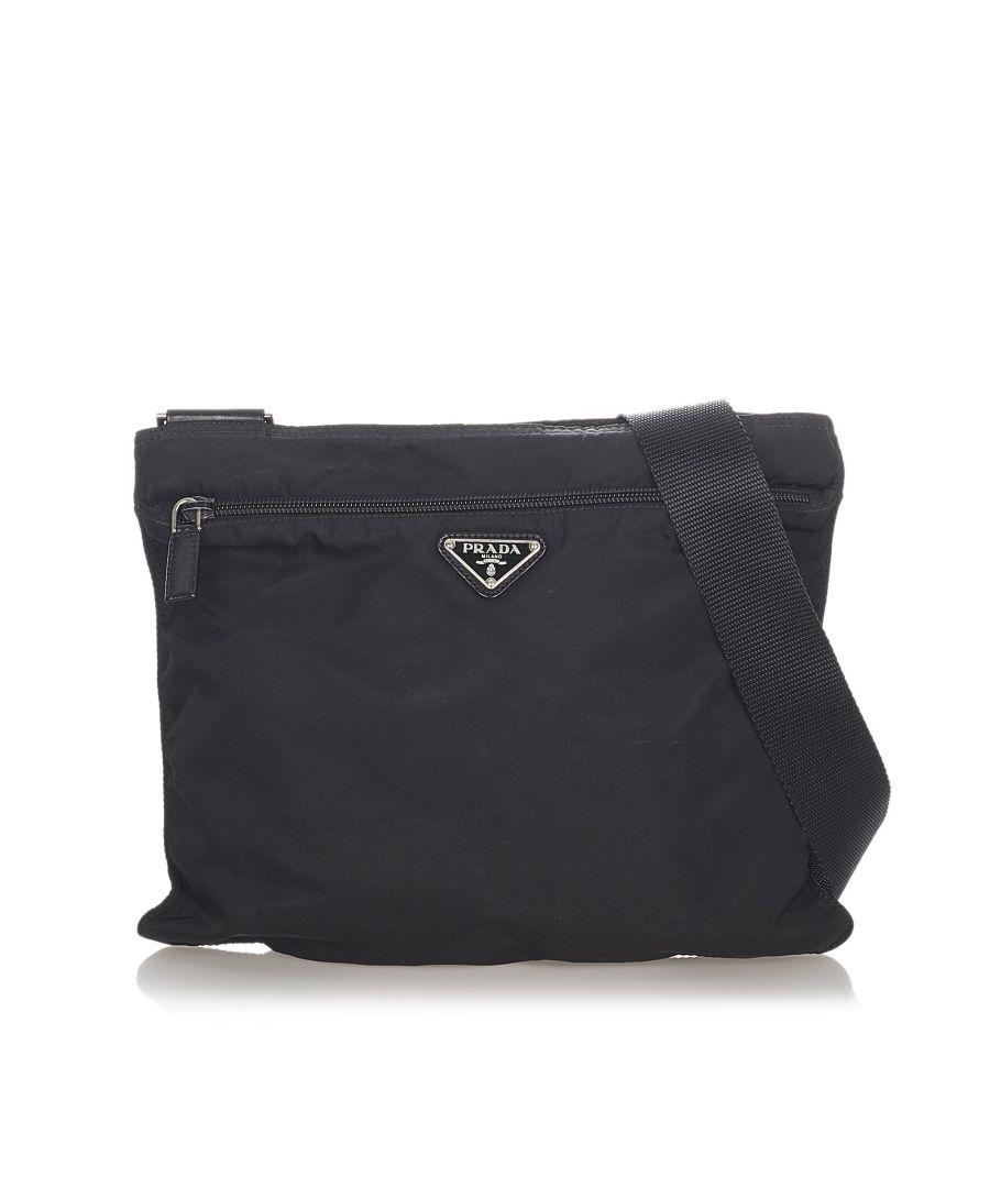 Image for Vintage Prada Tessuto Crossbody Bag Black