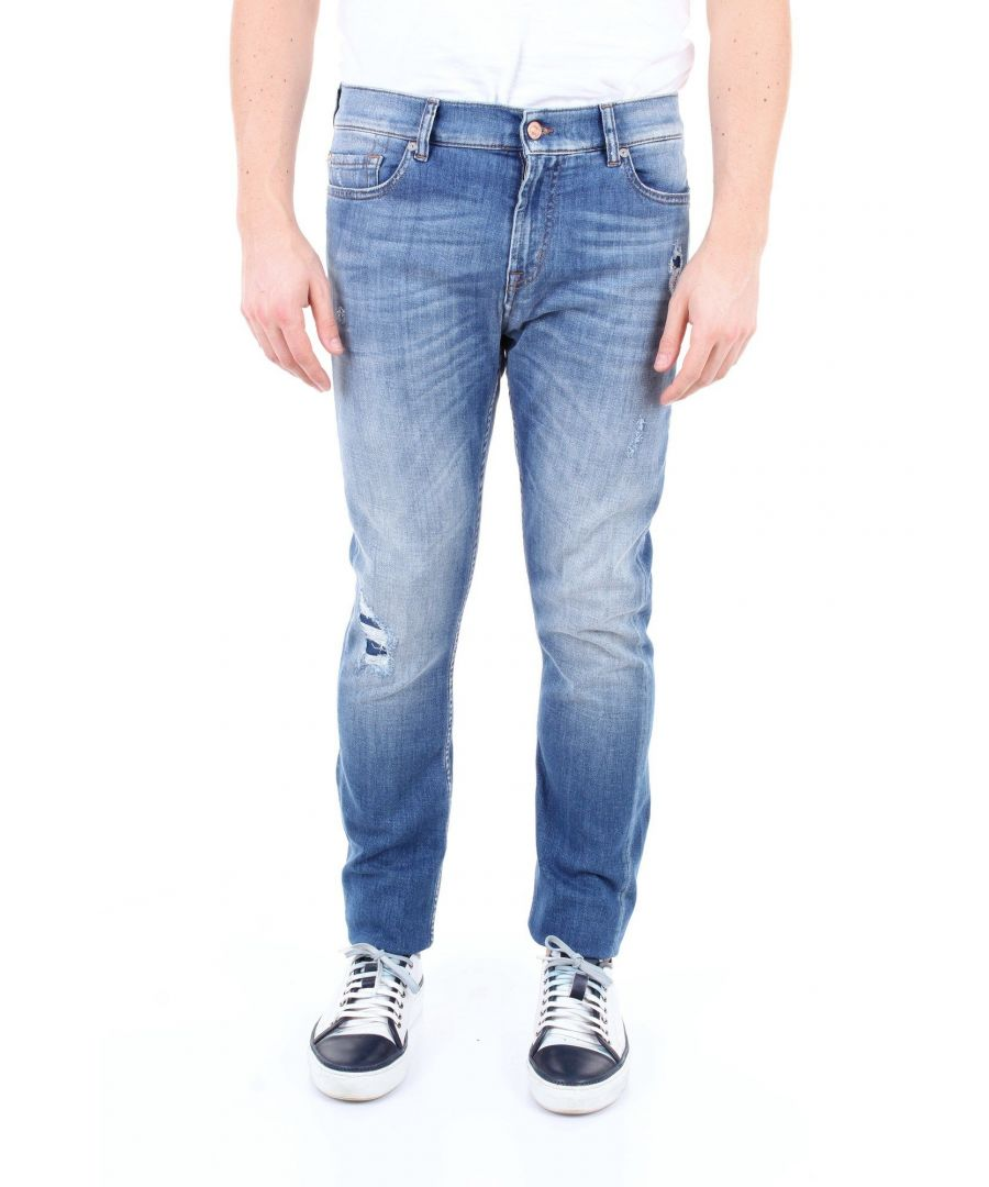Image for 7 FOR ALL MANKIND MEN'S JSD4R510MWBLUJEANS BLUE COTTON JEANS