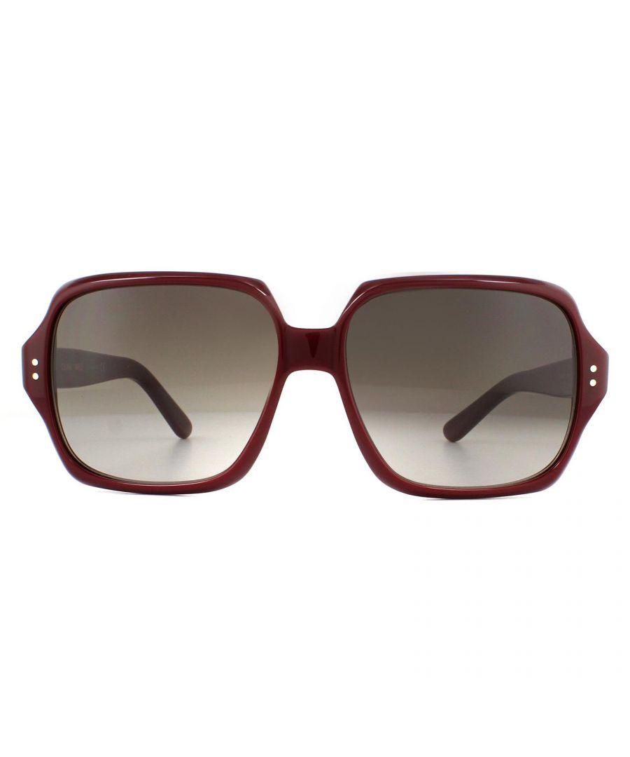 Image for Celine Sunglasses CL40074I 69F Shiny Bordeaux Brown Gradient