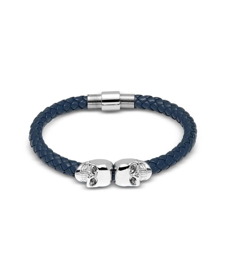 Image for THE NORTH FACE MEN'S 56LR140S BLUE LEATHER BRACELET