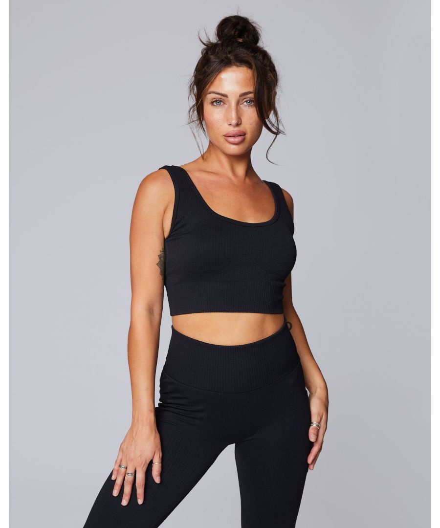 Image for Seamless Ribbed Sports Bra