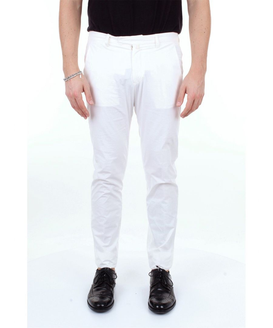 Image for BRIGLIA 1949 MEN'S BG033951BIANCO WHITE COTTON PANTS