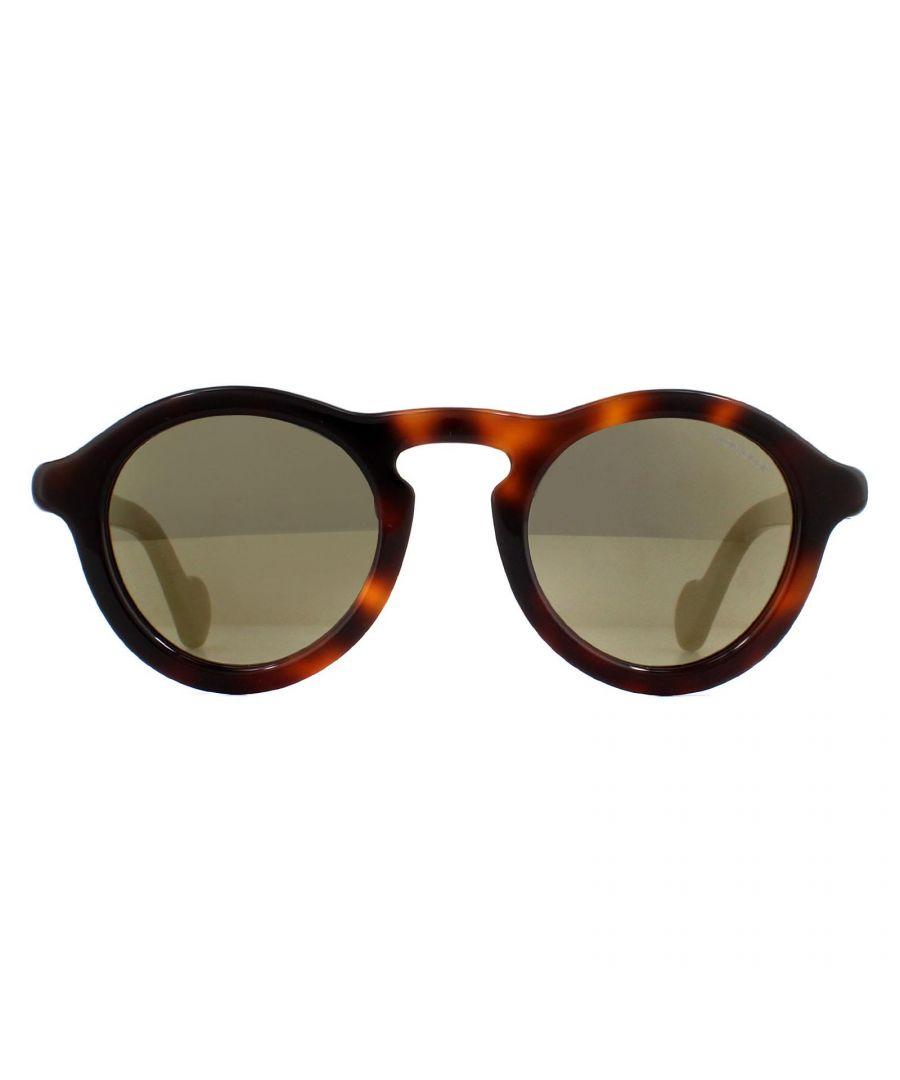 Image for Moncler Sunglasses ML0042 52C Dark Havana Smoke Mirror