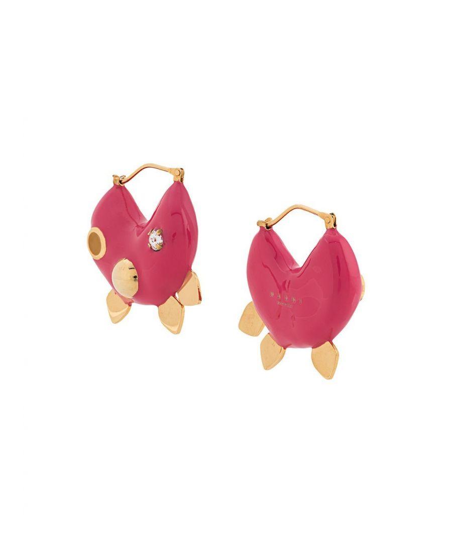 Image for MARNI WOMEN'S ORMV0164A0R200000C57 FUCHSIA METAL EARRINGS