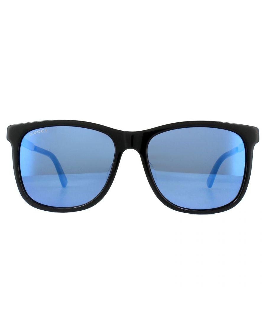 Image for Gucci Sunglasses GG0078SK 001 Black Blue