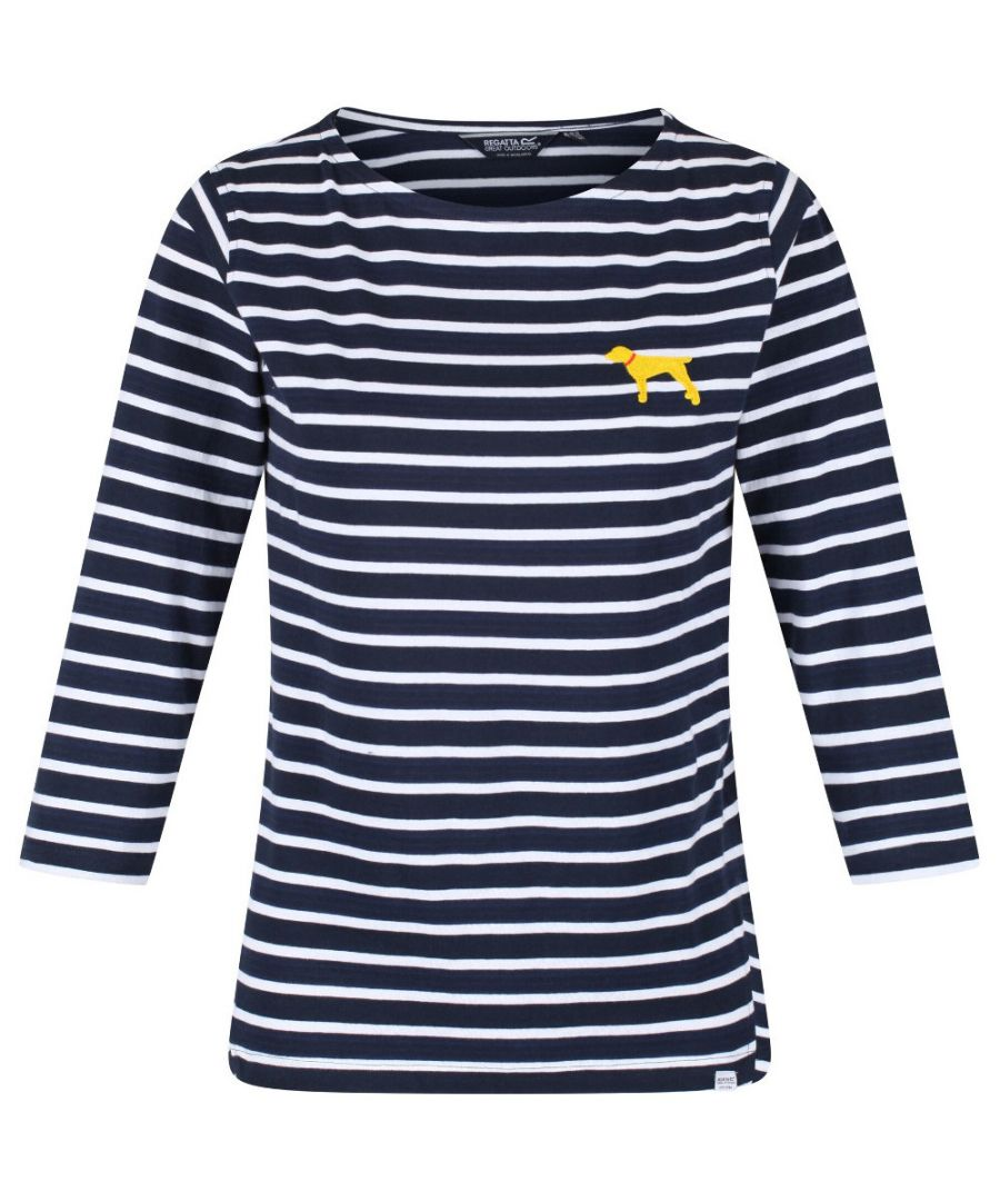 Image for Regatta Womens Polina Coolweave Cotton Striped Jersey Top