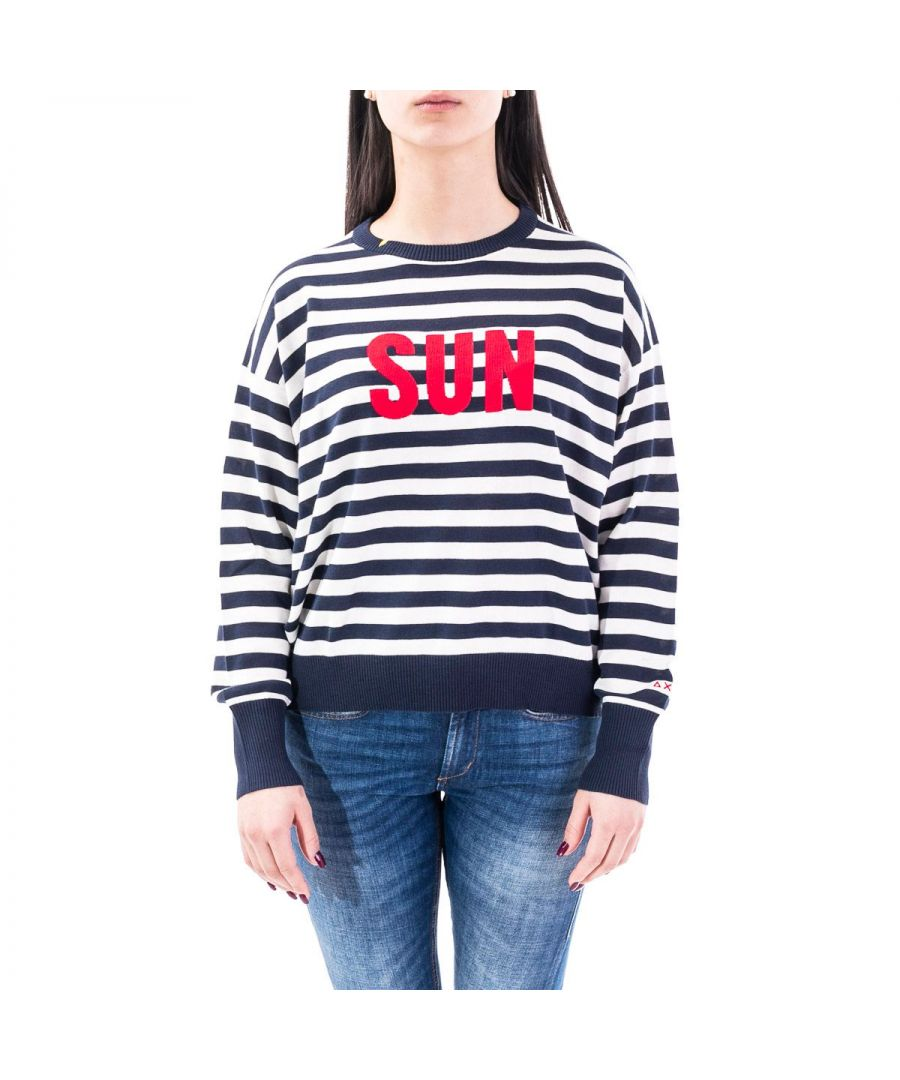 Image for SUN 68 WOMEN'S K302080731 BLUE COTTON SWEATSHIRT