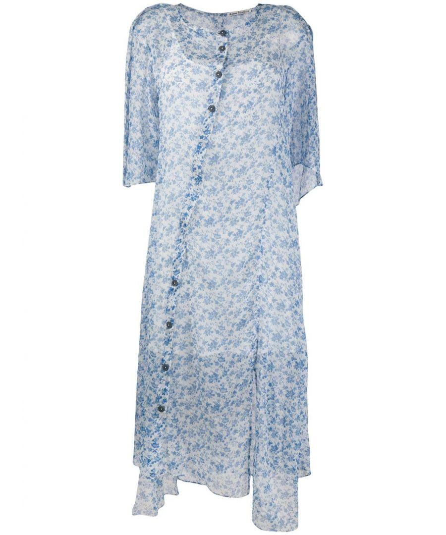 Image for ACNE STUDIOS WOMEN'S A20180BLUE LIGHT BLUE SILK DRESS