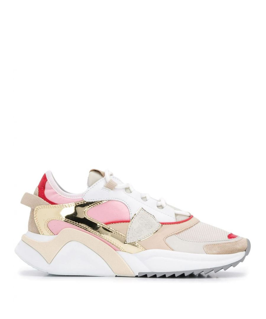 Image for PHILIPPE MODEL WOMEN'S EZLDRS01 PINK LEATHER SNEAKERS
