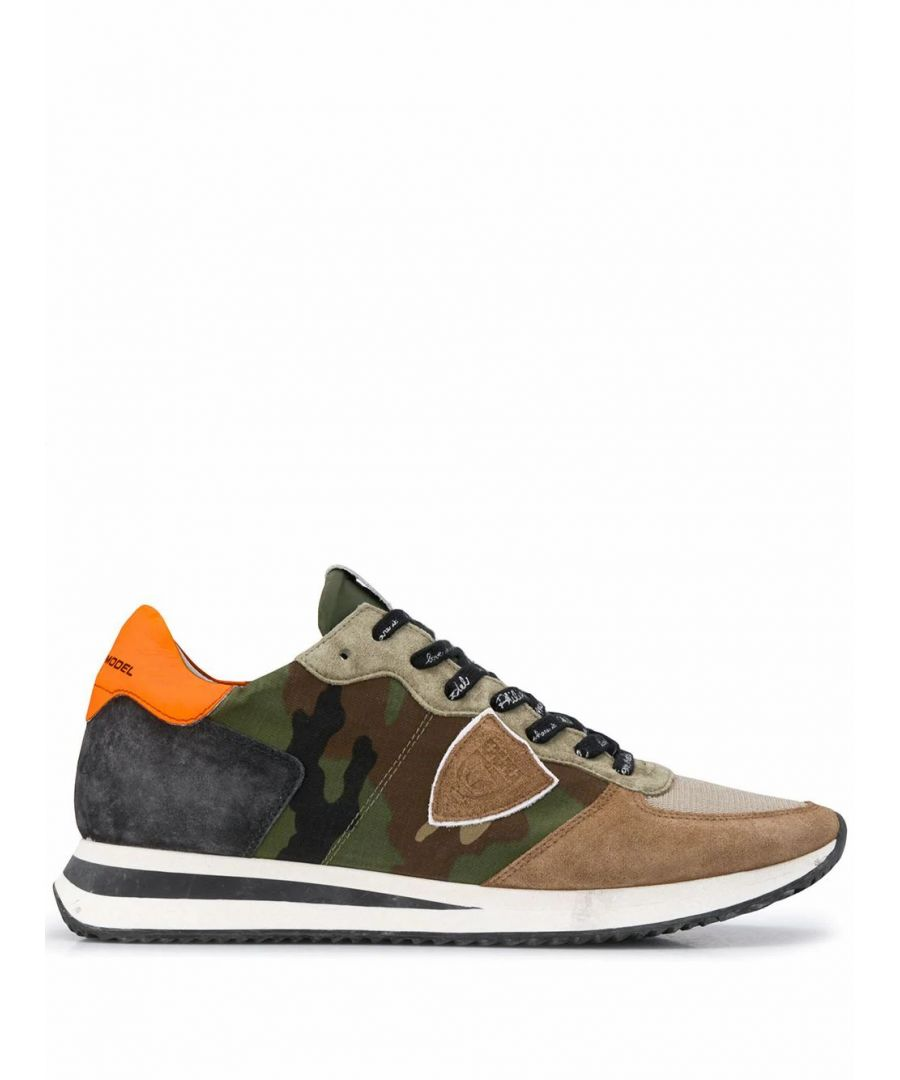 Image for PHILIPPE MODEL MEN'S TZLUCC03 GREEN LEATHER SNEAKERS