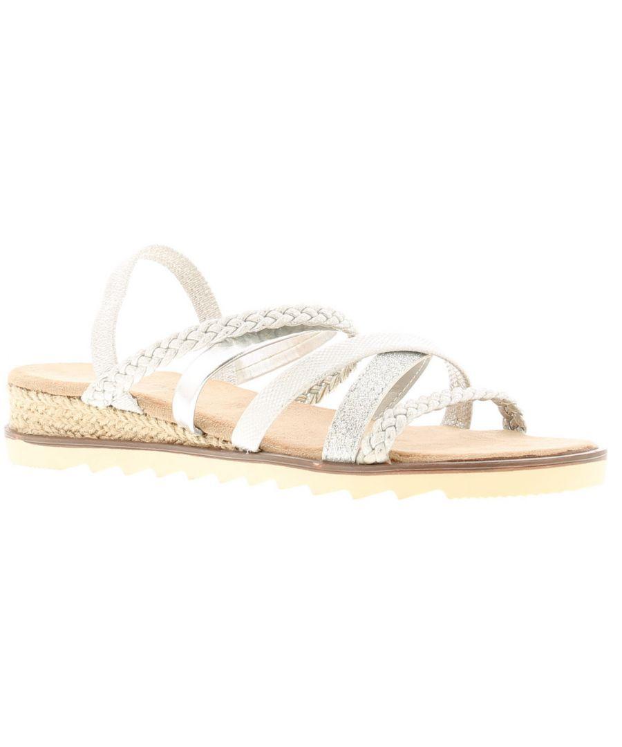 Image for Comfort Plus caroline Womens Wedge Sandals silver