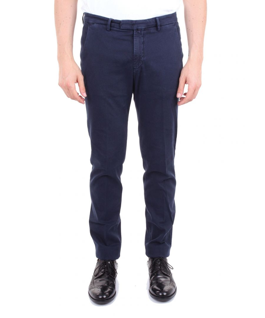 Image for BRIGLIA 1949 MEN'S BG0348561BLUE BLUE COTTON PANTS