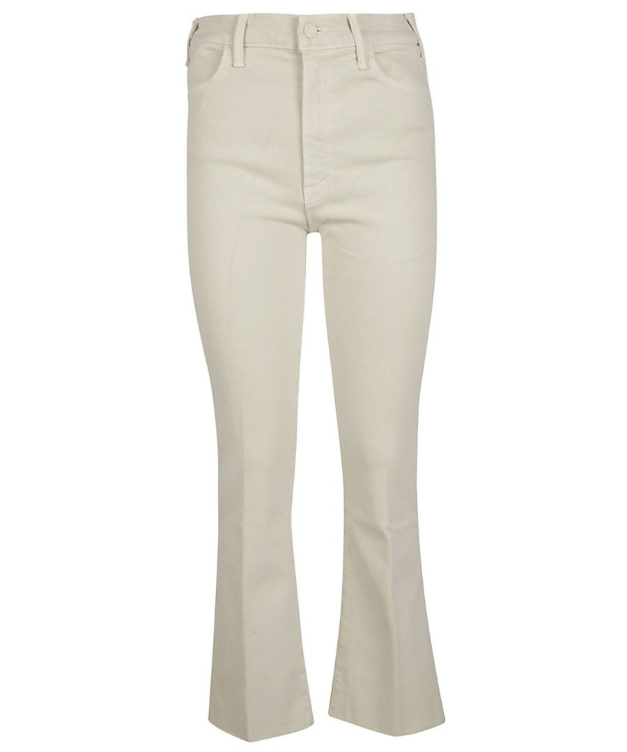 Image for MOTHER WOMEN'S 1117674CRM WHITE COTTON JEANS