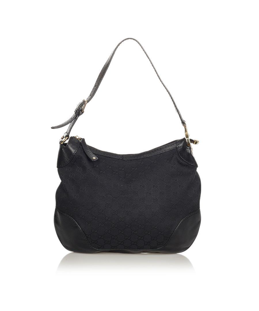 Image for Vintage Gucci GG Canvas Charlotte Shoulder Bag Black