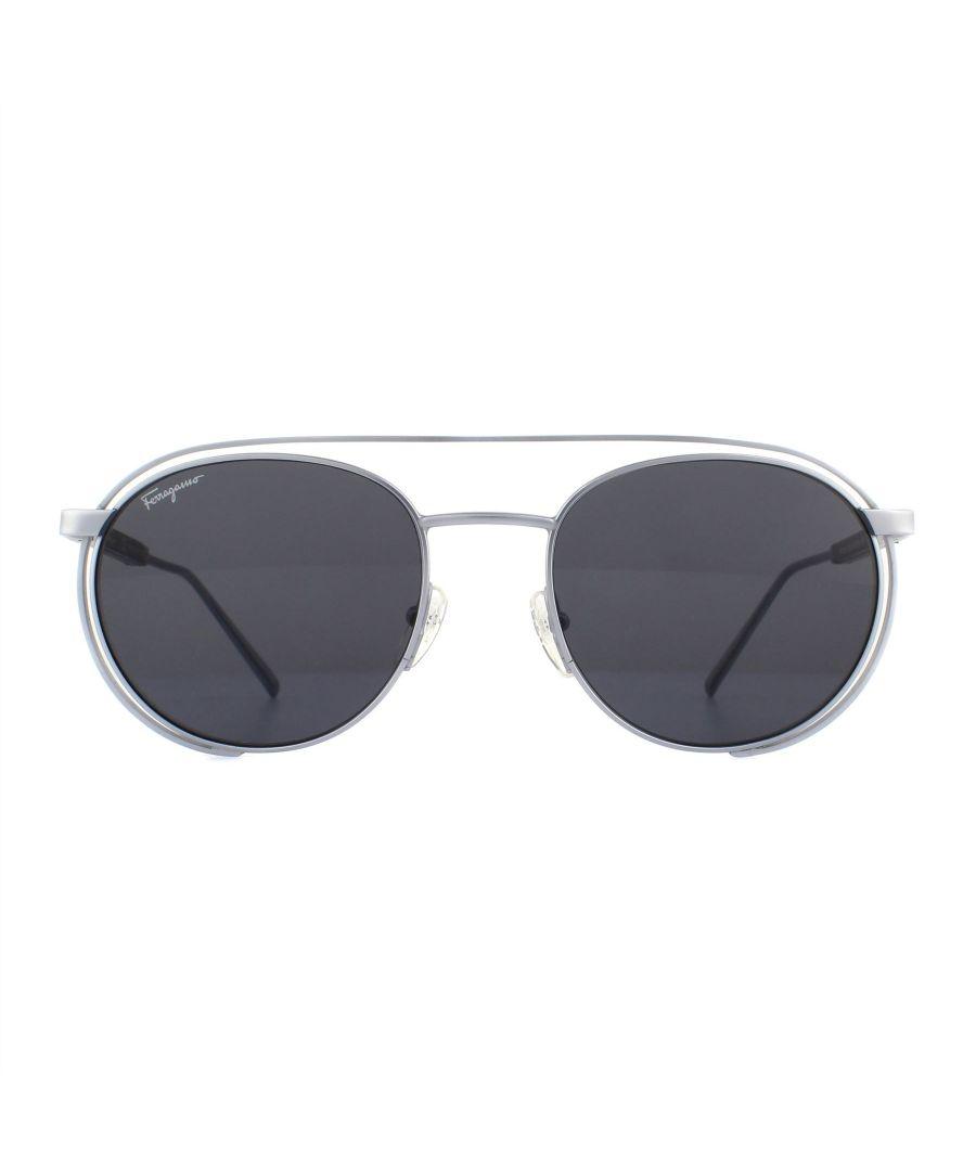Image for Salvatore Ferragamo Sunglasses SF169S 029 Matte Silver Grey