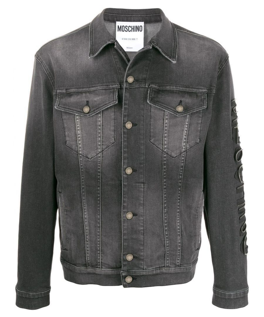 Image for MOSCHINO MEN'S A061020240509 GREY COTTON JACKET