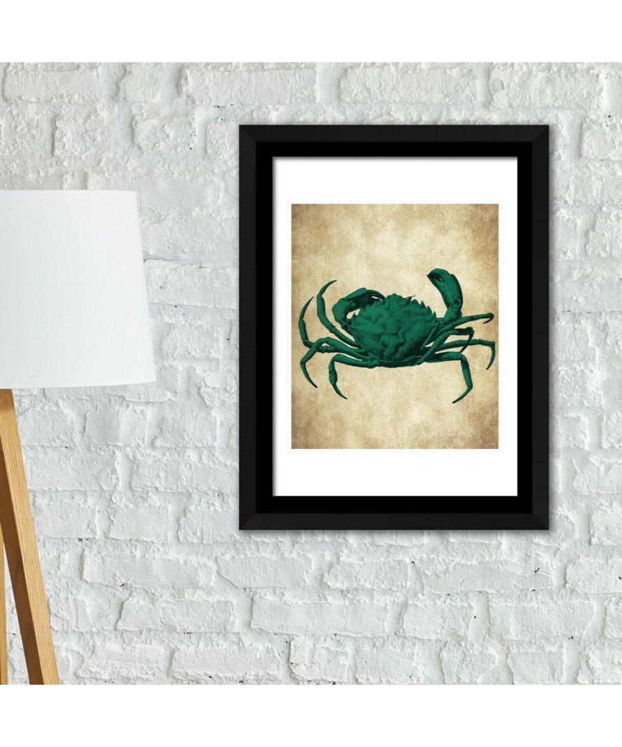 Image for Framed Art 2in1 Crab Wall Art Poster Framed Photo, Framed Art