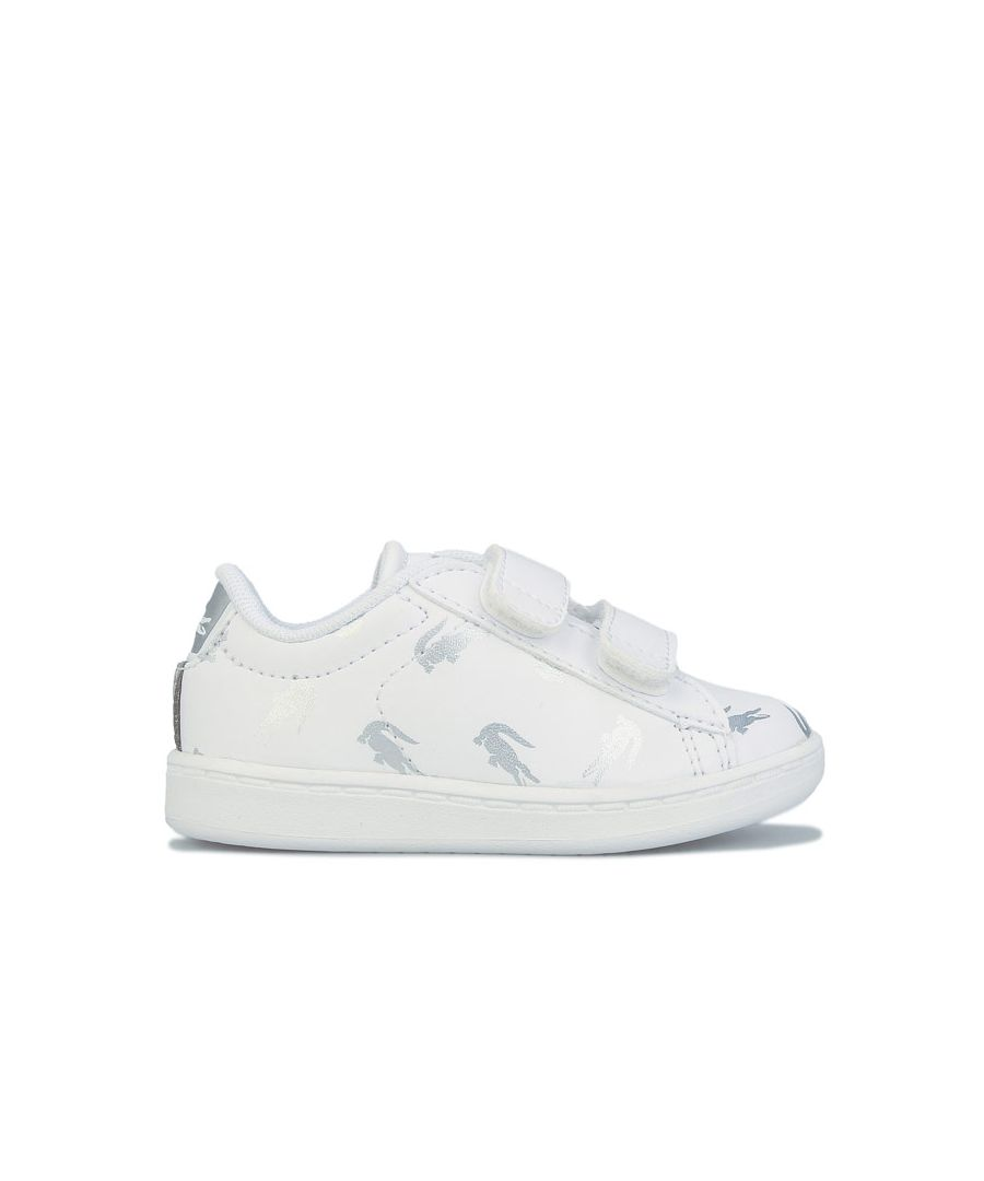 Image for Girl's Lacoste Infant Carnaby Evo Trainers in White silver
