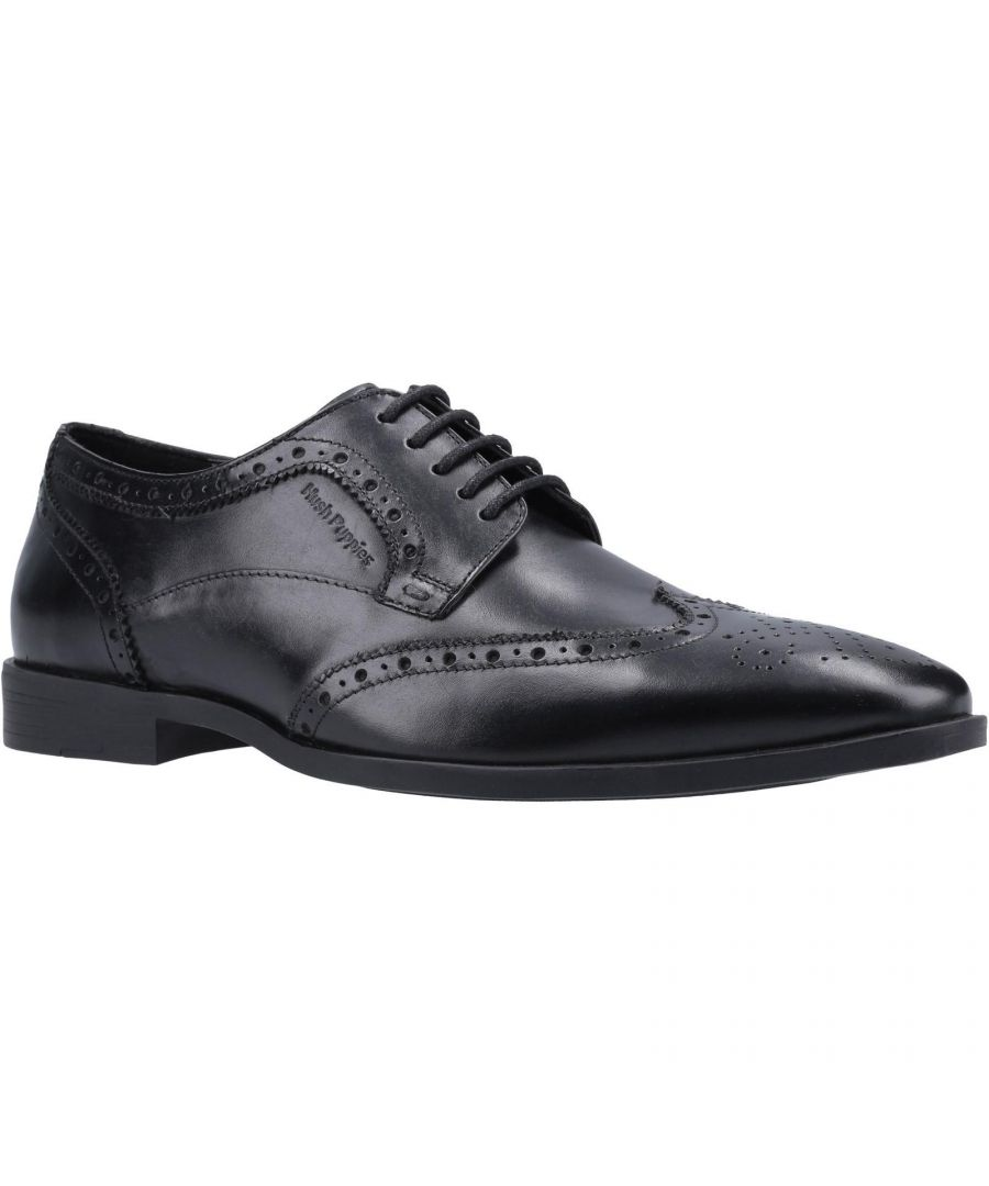 Image for Hush Puppies Mens Leather Brogues (Black)