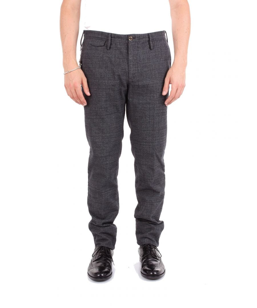 Image for PT01 MEN'S BB17DLTMZ10W0LDARKGREY GREY COTTON PANTS