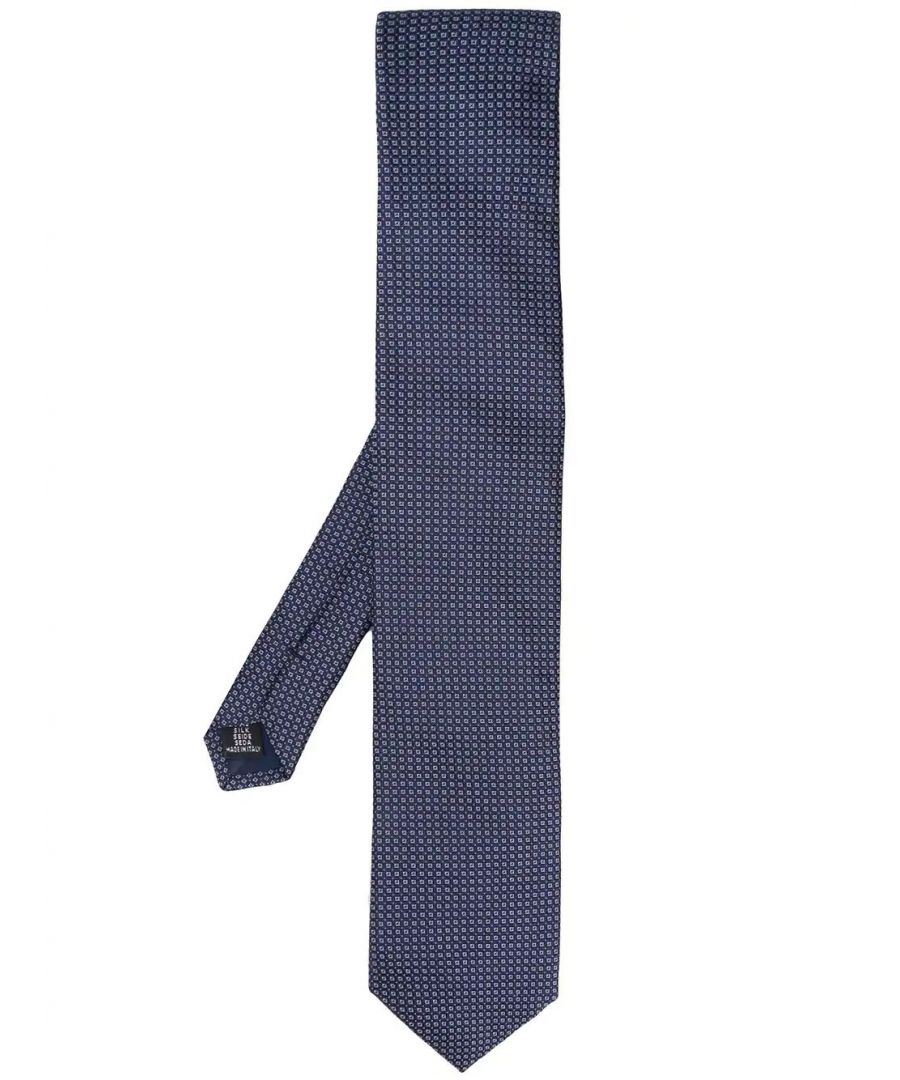 Image for TONELLO MEN'S 01T0470T0555010 BLUE SILK TIE