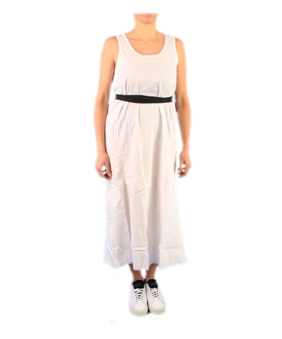 Image for SUN 68 WOMEN'S T3020610 WHITE COTTON DRESS
