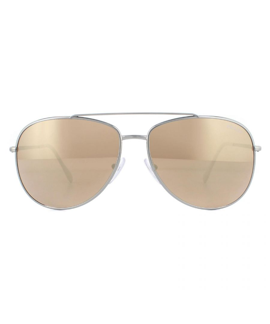 Image for Prada Sport Sunglasses PS 55US 5AVHD0 Gunmetal Dark Brown Gold Mirrored